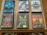 PC games for sale below. All come with manuals.