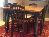 Rustic dining room table for sale. It's pub/counter