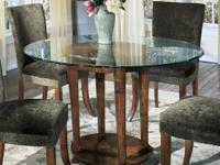 Winslow Casual Dining Set - 6 Piece Dinette Set - Glass