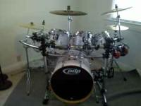 For sale is a great sounding PDP drum kit. Comes with