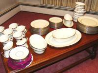 Estate Sale 8 Setting- 6 Piece Lenox Fine China -