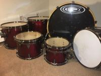 6 piece OCDP Avalon maple shells. Barely used,