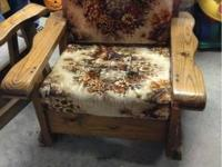 6 piece wooden furniture set. Has a couch, rocker,
