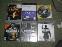 I'm selling 6 PS3 games (COD black ops,COD Modern