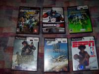 I have six ps2 games for sale for $1 each,,,All work