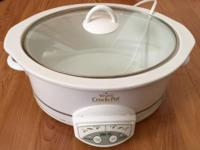 For sale I have a white 6 quart rivals crockpot that is