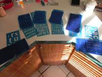 6 different sets of letter and number stencils $10.00