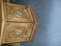 Price Reduced....6-sided end table.  Wood veneer on top