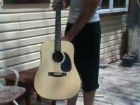 Good condition. Guitar (Johnson)comes with a case and a