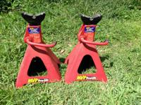 Pair 6 ton heavy duty jacks stands, 35 cash FIRM, call