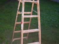 Werner model W336 6' wooden stepladder. Has some paint