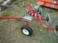 6-WHEEL ESTATE RAKE USE ON PASTURE CLIPPINGS OR LAWN