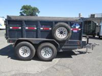 6 x 10 Used Dump Trailer 12,000lb GVWR 2 - 6,000lb