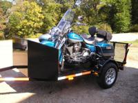 The trike bike Trailer in a size 6 feet wide by 10 feet