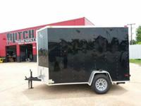 6' x 10' Single Axle V-nose Enclosed Cargo Trailer-