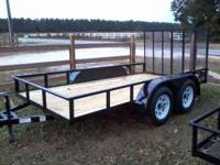 NEW AND USED TRAILERS - 6X12 TAND AXLE- $1395.00 5X8