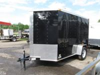 6' x 12' plus the V-nose Single Axle Enclosed Cargo