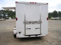 6 X 12 ENCLOSED, FLAT FRONT, RADIUS CORNERS WITH TRIM.