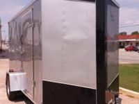 6' x 12' Single Axle V-nose Enclosed Cargo Trailer. 6""