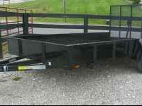 "New 6 x 12 Utility Trailer with 15"" solid sides, Gate"