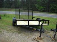 NEW 6 x 12 Utility Trailer 1. 3500lb axle, e-z lube