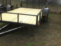 6 X 12 UTILITY TRAILER, MODEL 612LE, ALL TUBING