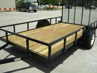 6 x 12 new utility trailer by Triple Crown. Contains