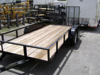 6 x 16 new utility trailer by Triple Crown. Contains