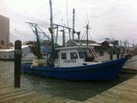 This working shrimp trawler is in good condition, comes