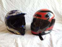 I am selling my motorcycle helmets, they are both used
