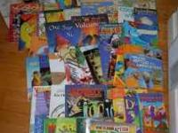 Over 60 books - various titles, most are preschool to