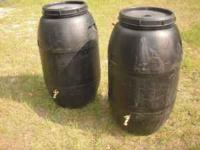 I have black food grade rain barrels with brass spigots
