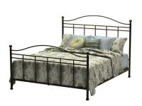 This Queen metal bed in its chic bronze finish has a