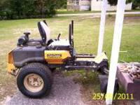 2008 cub m 60 tank 60 inch mower showing 730 hours has