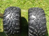 One set of Carlisle Titan AT 489 tires, size AT
