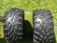 One set of Carlisle Titan AT 489 tires, size AT