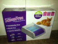 Self-cleaning litter box features a quiet motor and