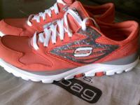 Women's Sketchers GORun size 8-coral color. These are