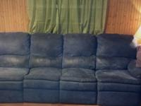 Blue micro fiber sectional- 4 pieces- with two