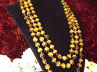 "60"" Tiger Eye Necklace For more information reply via"