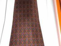 Vintage Hermes Tie (906 HA)Crimson red background with