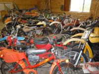60 vintage dirt and street bikes forsale cheap or