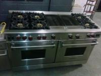 "60"" WOLF Gas Range With 6 Burners and 2 Grilles Only"