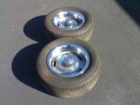 """I have a set of 15"""" Chevrolet rally wheels for sale."""
