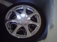 Set of 4 tires and rims.18 Inch chrome Maas rims.Low