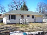 2 bedroom, 1 bath house for rent in Waseca. Tenant