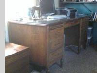 MUST SELL. Beautiful solid wood, Executive Desk.