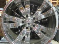 CRUISER ALLOY 20 IN CHROME RIMS - 5 LUG - JUST RIMS 5