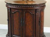 Beautiful Mahogany Oval Vanity Sink with Cabinets!!!!!