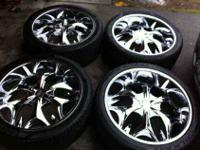 I have a very nice set of deep dish 24's here off of my